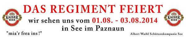 Schützenkompanie See / bannerohnerand / Zum Vergrößern auf das Bild klicken