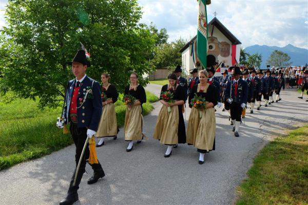 Schützenkompanie Gnadenwald / Bezirksschützenfest Gnadenwald / Zum Vergrößern auf das Bild klicken