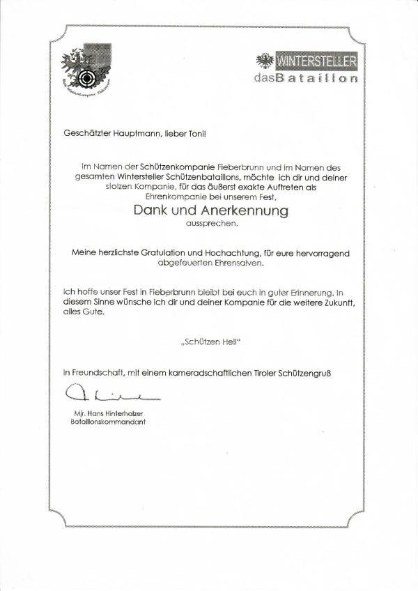 SK Fieberbrunn / dankschreiben_bataillon_wintersteller / Zum Vergrößern auf das Bild klicken
