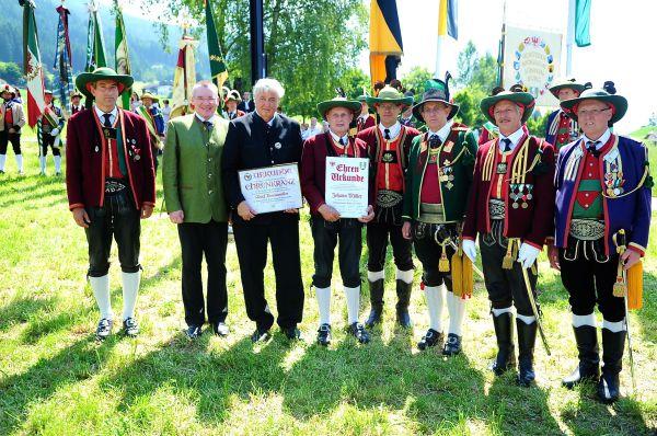 Schützenbataillon Sonnenburg / Bataillonsfest Patsch Ehrungen / Zum Vergrößern auf das Bild klicken