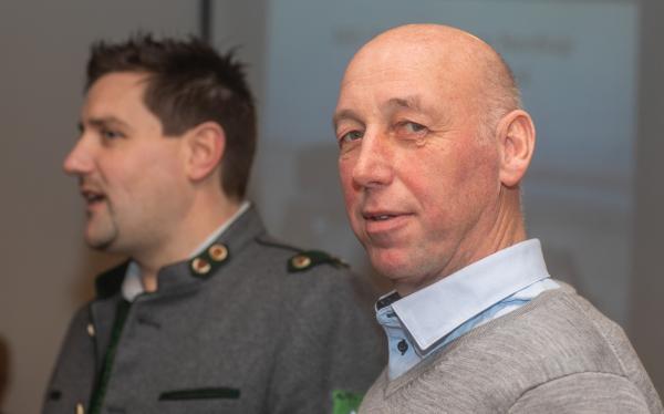 Schuetzenkompanie Lienz / v.l. Hauptmann Alexander Kirchstätter und Obmann Hans Pramstaller / Zum Vergrößern auf das Bild klicken