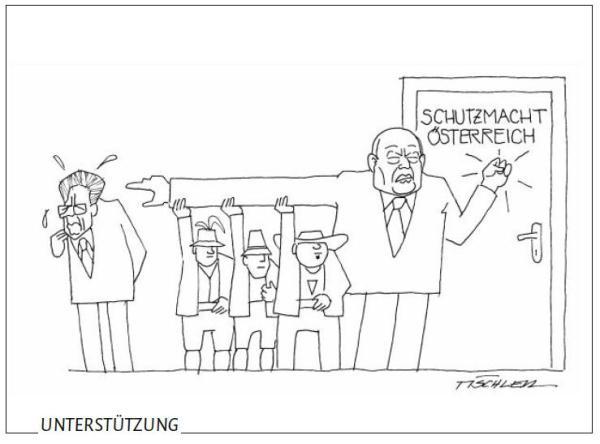 Dolomiten / karikatur_schutzmacht / Zum Vergrößern auf das Bild klicken