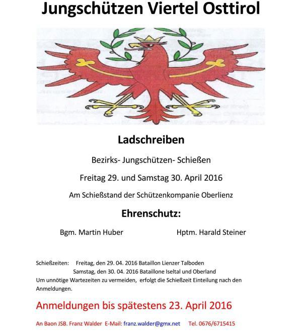 Walder Franz / ladschreiben_js_bez._schiessen_in_oberlienz_(3)_page_1