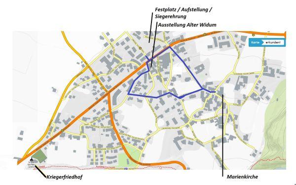 Patric Niederbacher / Lageplan Dorf / Zum Vergrößern auf das Bild klicken