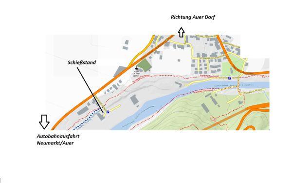 Patric Niederbacher / Lageplan Schiessstand Auer / Zum Vergrößern auf das Bild klicken