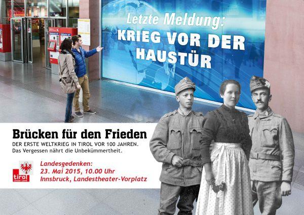 Land Tirol / Landesgedenken Erster Weltkrieg / Zum Vergrößern auf das Bild klicken