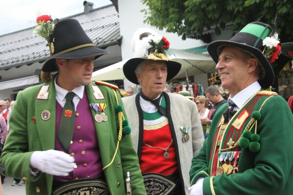 Landeskommandant Thomas Saurer, Ehren-Landeskommandant Fritz Tiefenthaler und Landeskommandant-Stell