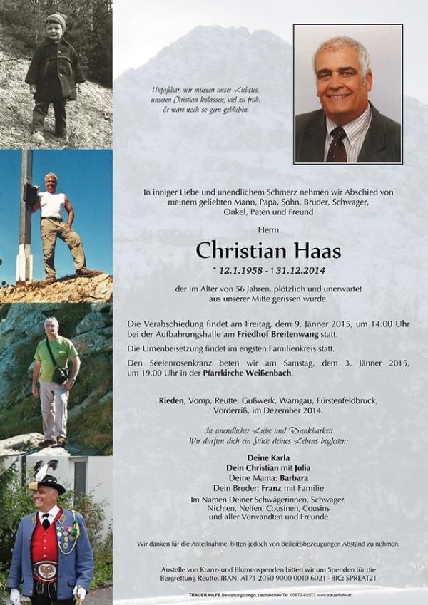 Haas Christian / parte_haas_christian0 / Zum Vergrößern auf das Bild klicken