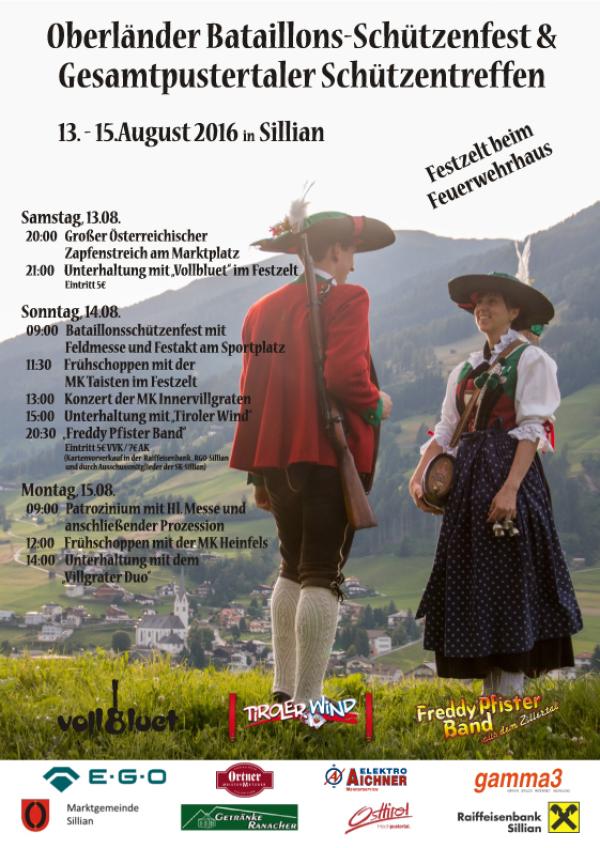 SK Sillian / plakat_schuetzenfest_sillian / Zum Vergrößern auf das Bild klicken