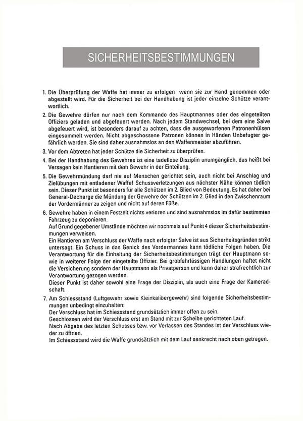 BAON Kommandant Stephan Zangerl / sicherheitsbestimmungen / Zum Vergrößern auf das Bild klicken