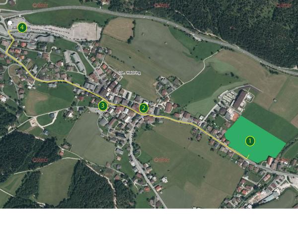 Schützenkompanie Waidring / Plan Sonntag / Zum Vergrößern auf das Bild klicken