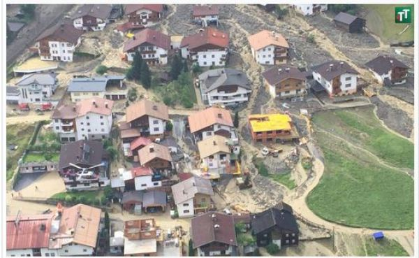 Tiroler Tageszeitung / Unwetter in See / Zum Vergrößern auf das Bild klicken