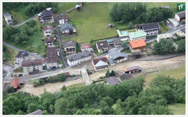 Tiroler Tageszeitung / Unwetter in Sellrain / Zum Vergrößern auf das Bild klicken