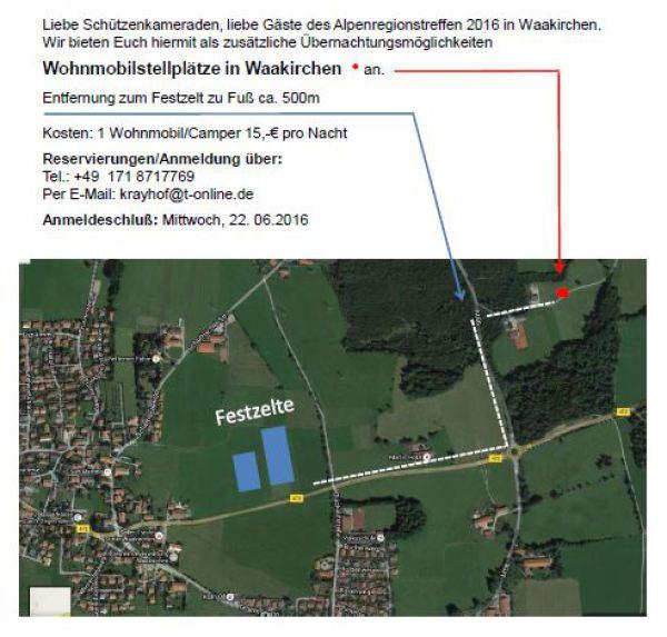 Gebirgsschützen Waakirchen / Wohnmobilplätze Waakirchen / Zum Vergrößern auf das Bild klicken