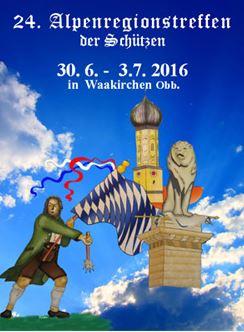 Gebirgsschützen Waakirchen / Plakat Alpenregionstreffen 2016