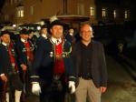 Schützenkompanie Strengen / Hptm Köll Meinrad und Bgm. Ing. Sieß Harald vor der Schützenkompanie Strengen / Zum Vergrößern auf das Bild klicken