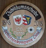Schützenkompanie Lienz / jubilaumsscheibe / Zum Vergrößern auf das Bild klicken